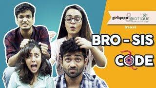 Video SIS CODE With BRO ft. Apoorva Arora & Barkha Singh | Rakshabandhan Special || Girliyapa MP3, 3GP, MP4, WEBM, AVI, FLV Januari 2019
