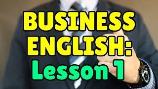 Essential Job Vocabulary, Business English Course Lesson 1