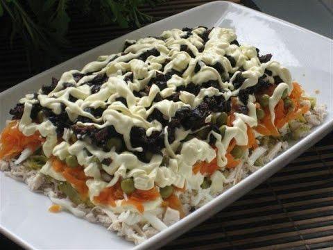 Рецепты салатов из чернослива и курицы