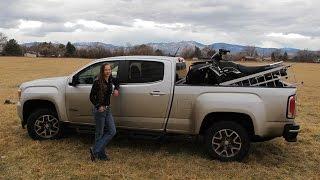 7. 2015 GMC Canyon 1000 mile mountain review, hauling ATV