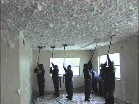 Friable ceiling abatement using FoamShield's patented method