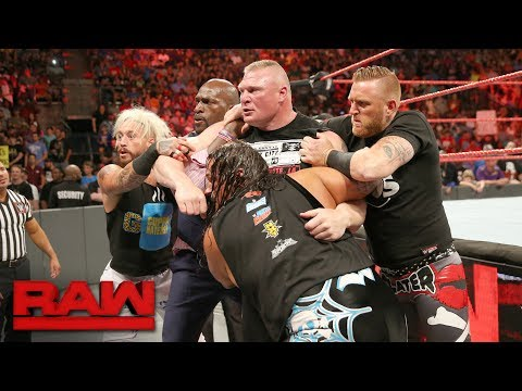 Brock Lesnar brawls with Samoa Joe: Raw, June 12, 2017