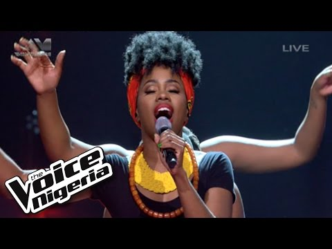 "A'rese sings ""When Trouble Sleeps"" / Live Show / The Voice Nigeria 2016"