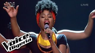 "A'rese sings ""When Trouble Sleeps"" / The Voice Nigeria 2016"