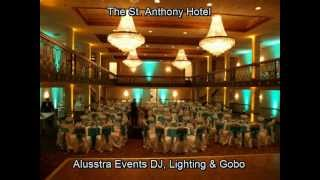 Alusstra Events DJ, Room Uplighting&Gobo Custon Monogram For Wedding Receptions