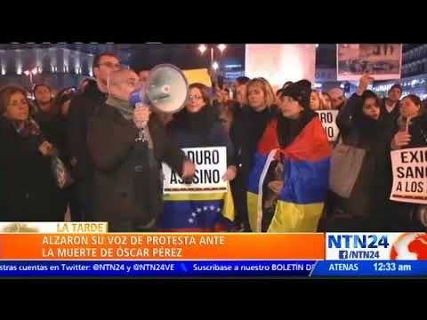 Venezolanos protestaron en Madrid (VIDEO)