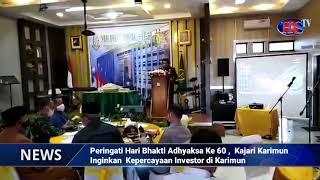 Peringati Hari Bhakti Adhyaksa Ke 60 , Kajari Karimun Inginkan Kepercayaan Investor di Karimun (HARIANSIBER TV)