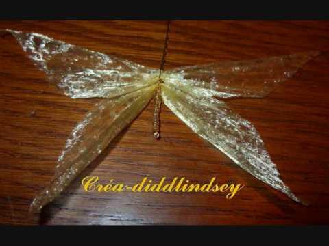 Comment r�aliser des papillons et libellules avec du raphia.