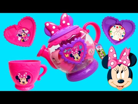 minnie - Minnie Mouse Bowtique Tea Playset Disney Junior Mickey Mouse Toys Juego de Té Plastilina http://www.youtube.com/user/UnboxingSurpriseEgg Playdough, Play-Doh,...