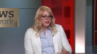 Rachel Clark, a transgender activist who served in the U.S. Marine Corps, reacts to Donald Trump's vow that under his...