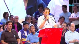 Enrile hits 'sleeping president' at Binay proclamation rally