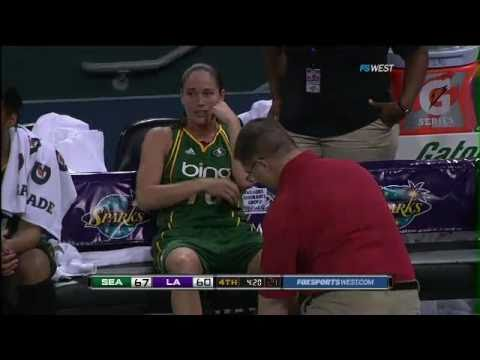 Sue Bird Hurt - Storm vs. Sparks