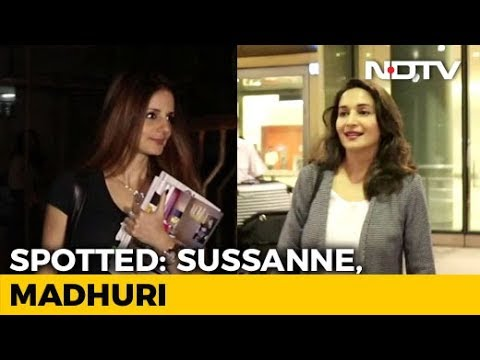 Celeb Spotting: Madhuri Dixit And Sussanne Khan