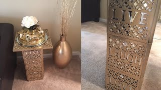 Dollar Tree DIY || Gold Live,Laugh,Love End Table