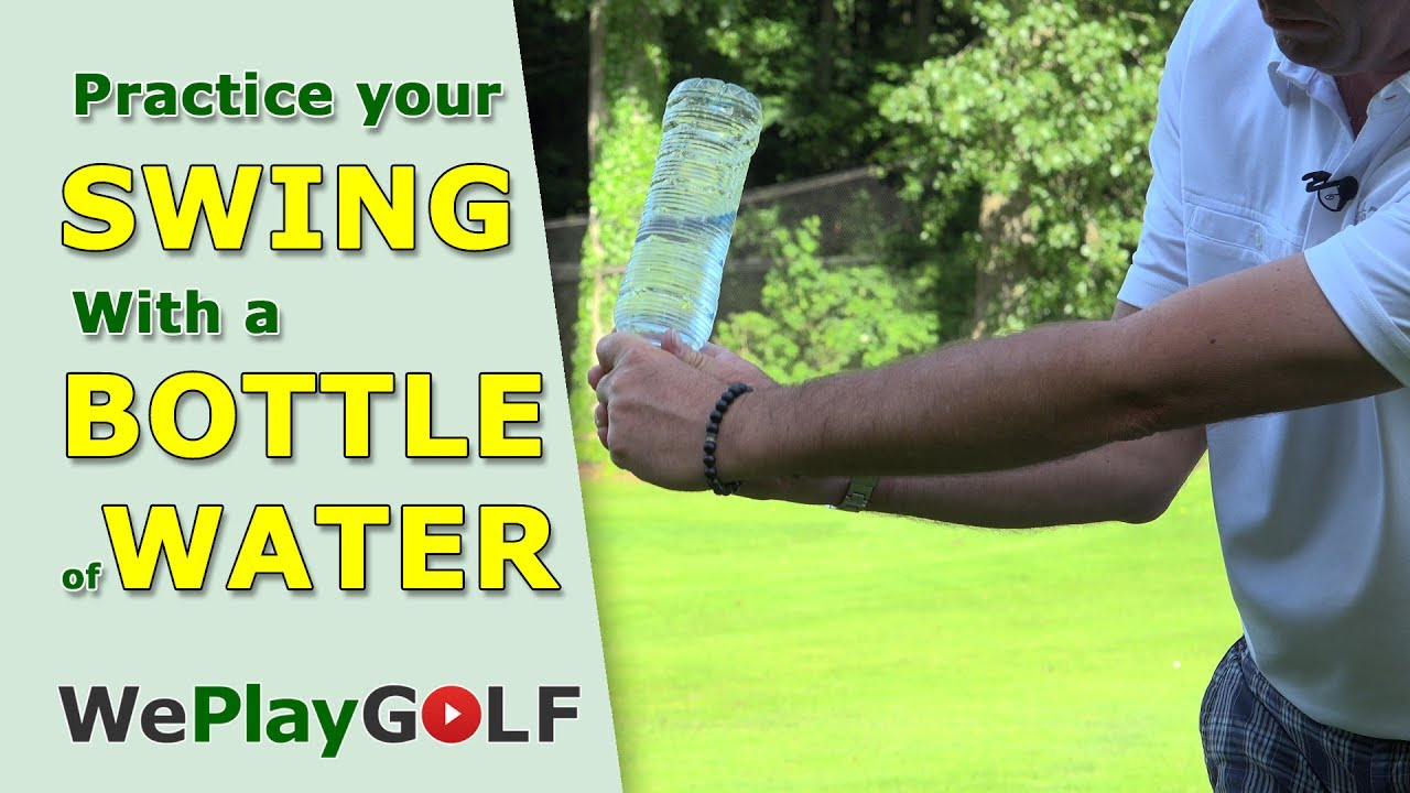 Feel the natural release of the club with a waterbottle