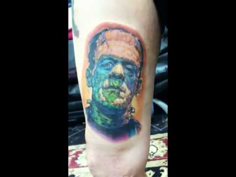 Frankensteins monster tattoo Video