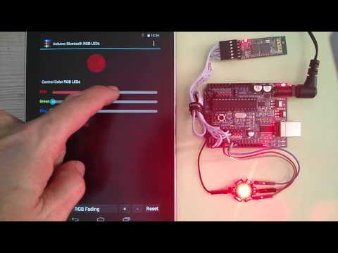Video of Arduino Bluetooth RGB LEDs