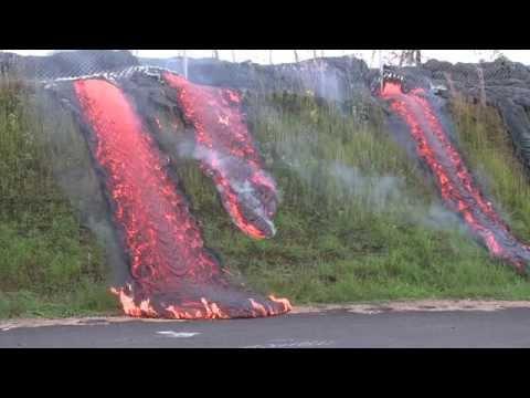 Lava flows in Pahoa, Hawaii