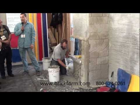 Vertical Concrete Resurfacing Brickform Vertical Concrete