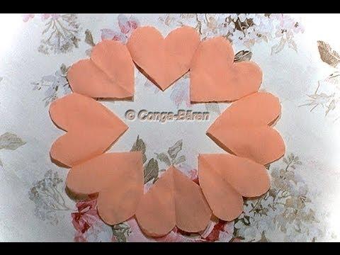 Servietten-Herz-Kranz - auch für Valentinstag