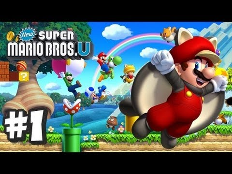 Mario - This is my HD Let's Play with live commentary of New Super Mario Bros U for the Nintendo Wii U! This is part 1 and in this vid we complete all of World 1, Ac...