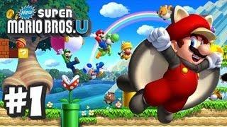 New Super Mario Bros U Wii U - Part 1 World 1