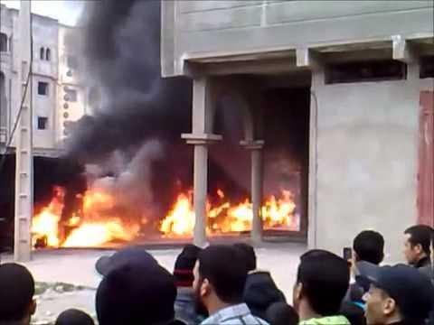 فضيحة رجال الاطفاء بالمغرب(حريق بمدينة خريكة)