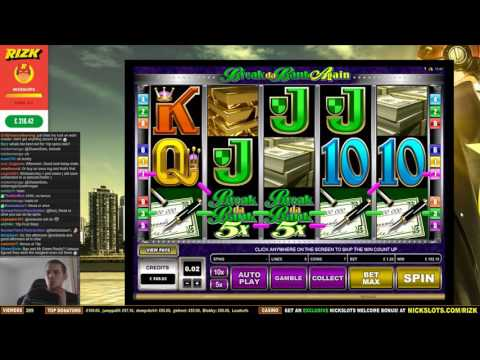 BIG WIN on Break da Bank Again Slot - £1.26 Bet