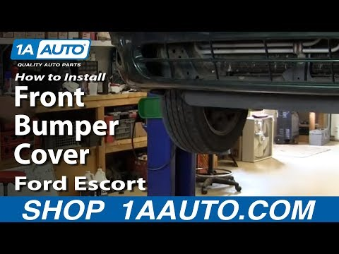 How To Install Remove Front Bumper Cover 1998-2003 Ford Escort ZX2