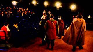 Los amigos de Freakfest en plena actuación en una de las salas de Bahia Mar 3D Cinemas 14.