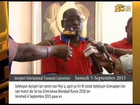 La Sélection haïtienne de Foot-ball s'est rendue dans le pays