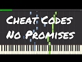 Cheat Codes - No Promises Piano Tutorial ft. Demi Lovato
