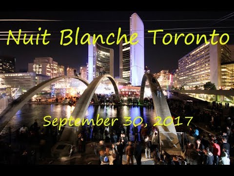 Nuit Blanche Toronto. September 30, 2017