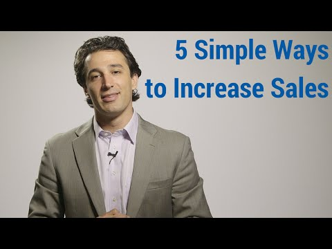 5 Simple Ways to Increase Sales