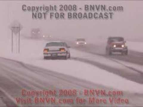 Icy - Stock Footage, NOT FOR BROADCAST. FOOTAGE COPYRIGHTED BY BNVN.com Footage of the winter storm that hit the Minneapolis Minnesota area on March 31st 2008. Vid...