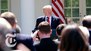 President Donald Trump On Paris Climate Accord Withdrawal (Full)   The New York Times