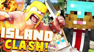 CLASH OF CLANS STYLE GAME - Minecraft ISLAND CLASH #3