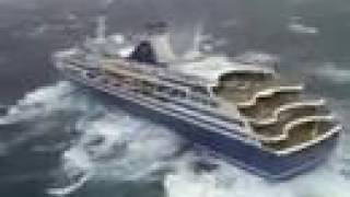 cruise ship almost tips over
