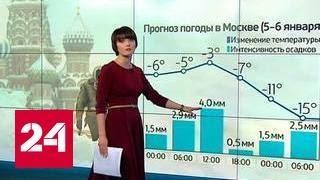 """""""Погода 24"""": Москву ждет потепление и метель"""