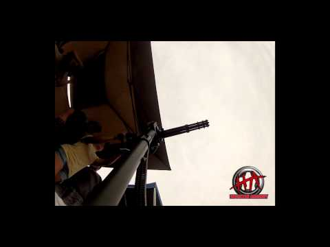 The minigun - Houston Armory was able to get a couple of clips of the mini gun with our GoPro.