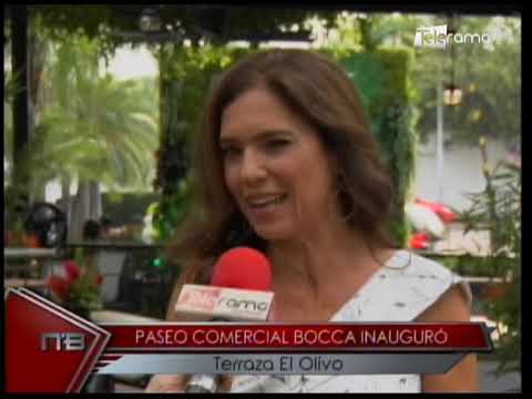 Paseo comercial Bocca inauguró terraza El Olivo