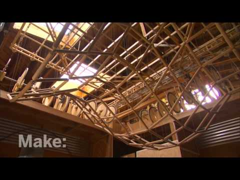 Sculpture - Reuben Margolin, a Bay Area visionary and longtime maker, creates totally singular techno-kinetic wave sculptures. Using everything from wood to cardboard to...