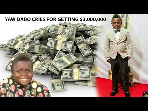 Yaw Dabo cries for getting €3,000,000