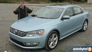 2013 Volkswagen Passat VR6 Test Drive&Mid-Size Sedan Car Video Review