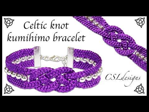 braccialetto celtico lavorato in macramè