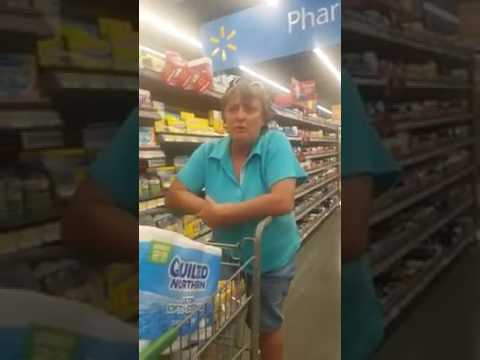Racist White woman at Walmart 5/22/17 Lets make Her Famous