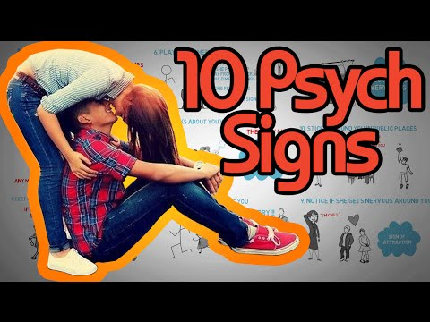 10 Psychological Signs a Girl Likes you - How to tell if she's attracted! (видео)
