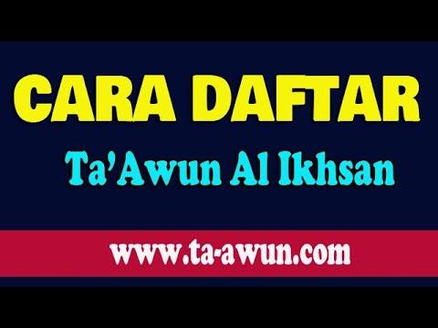 Tutorial Cara Daftarkan Peserta Baru Ta-awun Al Ikhsan versi Website