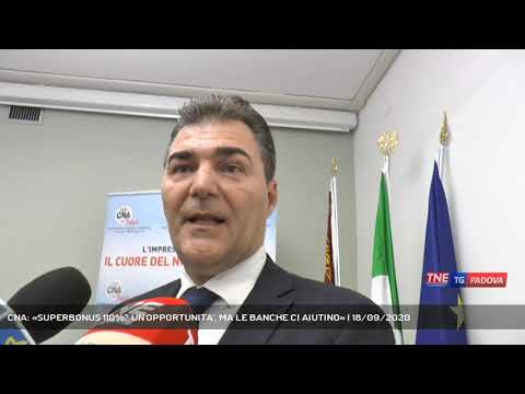 CNA: «SUPERBONUS 110%? UN'OPPORTUNITA', MA LE BANCHE CI AIUTINO» | 18/09/2020