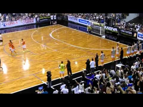 Carlos Barbosa - Corinthians vence no tempo normal e na prorrogação na segunda partida das quartas de finais da Liga Futsal 2014. Imagens: http://domingossccp.blogspot.com.br...